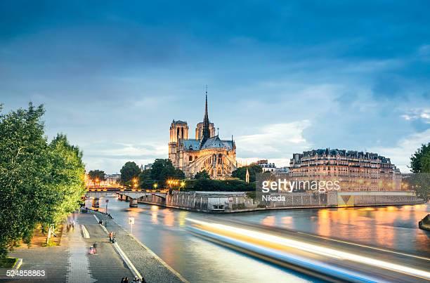 notre dame, paris - paris island stock photos and pictures