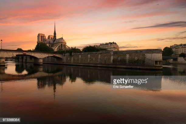 notre dame, paris - river seine stock pictures, royalty-free photos & images
