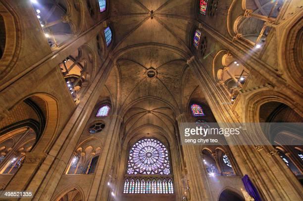 Notre Dame - Paris roof interior.