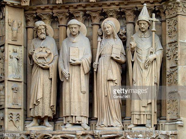 notre dame - bas relief stock pictures, royalty-free photos & images