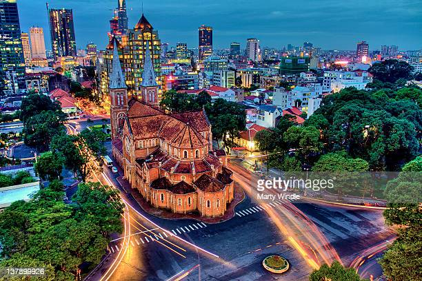 notre dame, saigon - ho chi minh city stock pictures, royalty-free photos & images