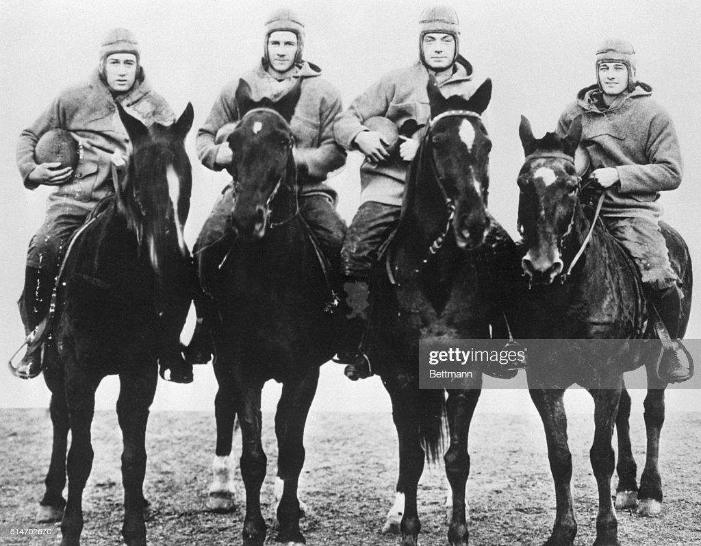 Notre Dame's Four Horsemen of Football : Foto jornalística
