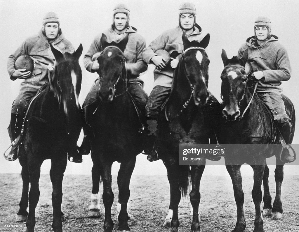 Notre Dame's Four Horsemen of Football : News Photo
