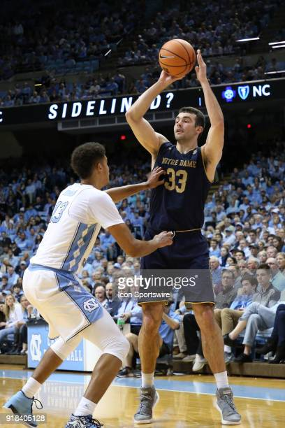 Notre Dame's John Mooney and North Carolina's Cameron Johnson The University of North Carolina Tar Heels hosted the University of Notre Dame Fighting...