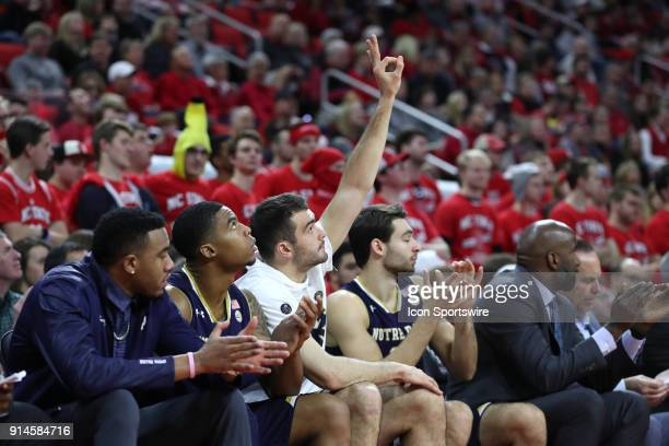 Notre Dame's John Mooney reacts to a three point basket by a teammate The North Carolina State Wolfpack hosted the University of Notre Dame Fighting...