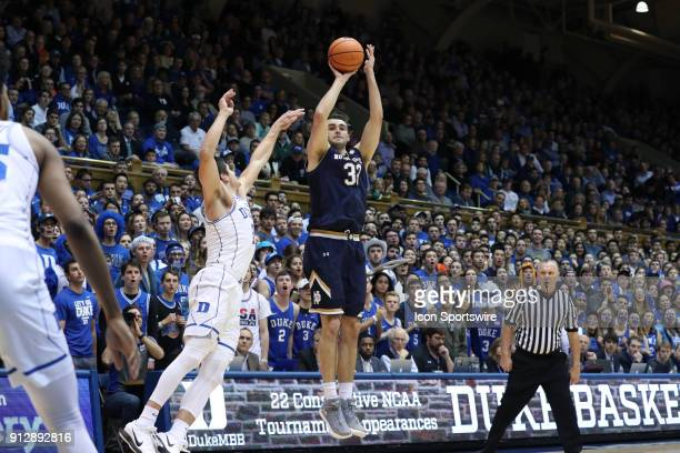 Notre Dame's John Mooney shoots over Duke's Grayson Allen The Duke University Blue Devils hosted the University of Notre Dame Fighting Irish on...