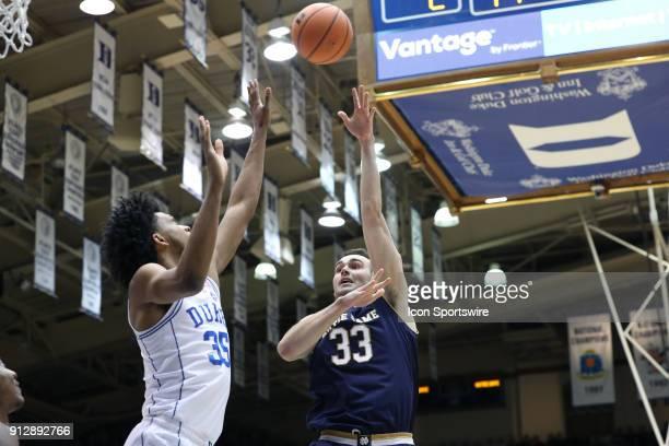 Notre Dame's John Mooney shoots over Duke's Marvin Bagley III The Duke University Blue Devils hosted the University of Notre Dame Fighting Irish on...