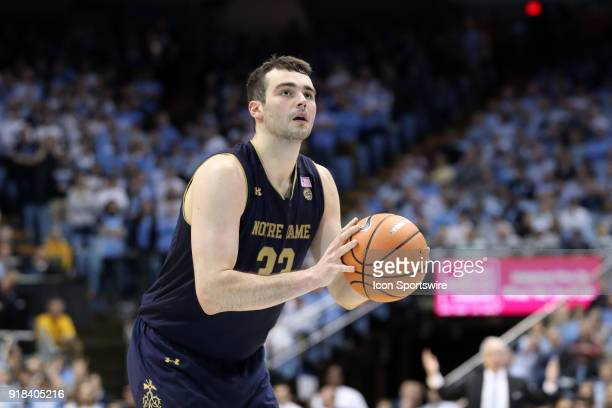 Notre Dame's John Mooney The University of North Carolina Tar Heels hosted the University of Notre Dame Fighting Irish on February 12 2018 at Dean E...