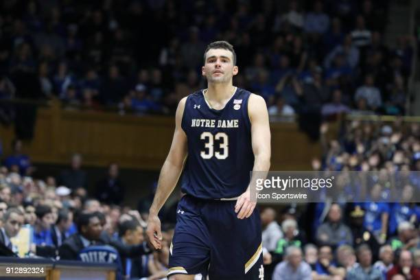 Notre Dame's John Mooney walks to the bench after fouling out of the game The Duke University Blue Devils hosted the University of Notre Dame...