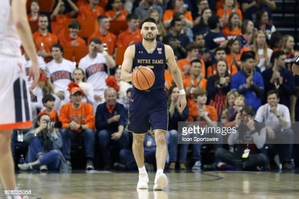 Notre Dame's Matt Farrell The University of Virginia Cavaliers hosted the University of Notre Dame Fighting Irish on March 3 2018 at John Paul Jones...