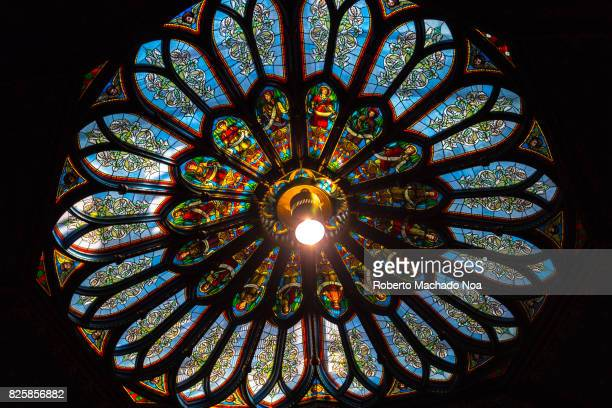 NotreDame basilica church Skylights in the ceiling The multicolour building interior is a major tourist attraction in Old Montreal which is in turn a...