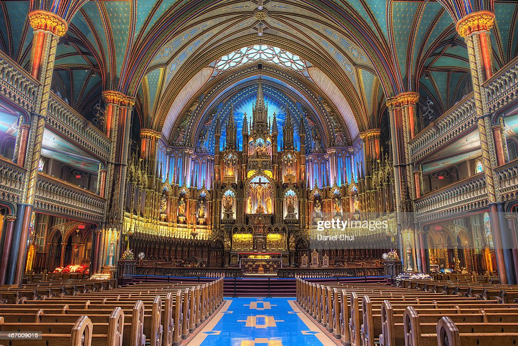 Notre-Dame Basilica in Montreal : Stock Photo