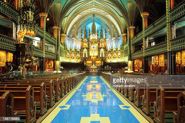 notre-dame basilica, montreal, montreal, canada - notre dame de montreal stock photos and pictures