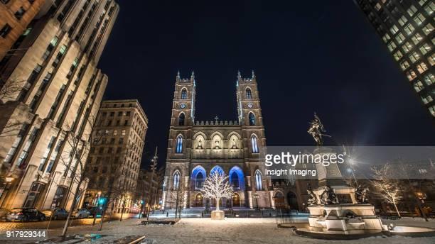 notre-dame basilica, montreal quebec - notre dame de montreal stock photos and pictures