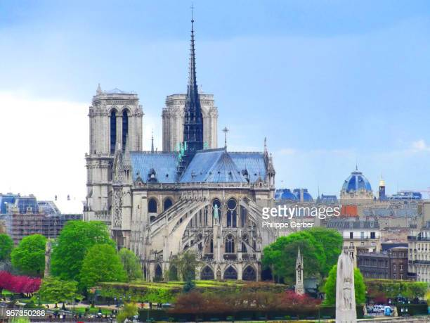 notre-dame cathedral - notre dame de paris stock photos and pictures