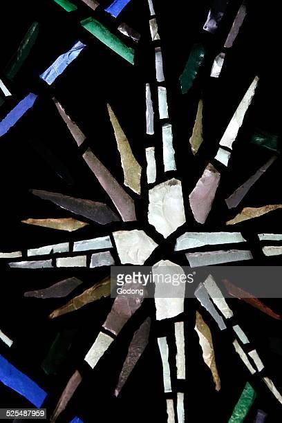 NotreDame de Fatima Church Stainedglass window Star