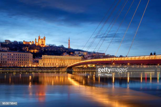 notre-dame de fourviere - rhone stock pictures, royalty-free photos & images
