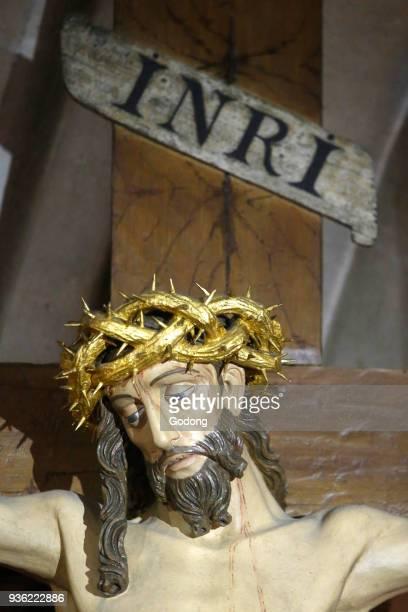 NotreDame de la Garde basilica Marseille Jesus on the cross France