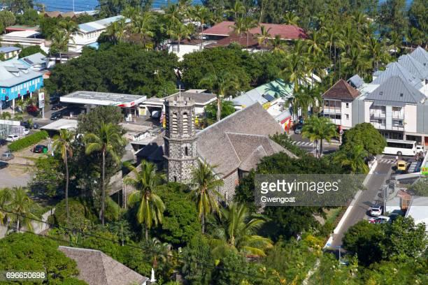 notre-dame de la salette en saint-leu - isla reunion fotografías e imágenes de stock
