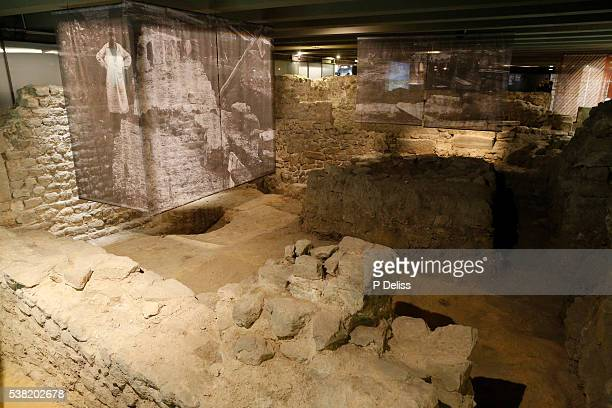 Notre-Dame de Paris cathedral. The Archaeological Crypt.