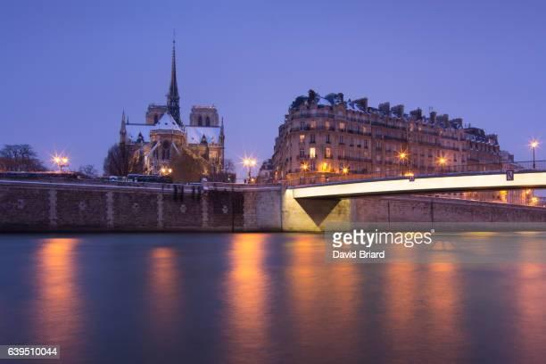 Notre-Dame de Paris in winter