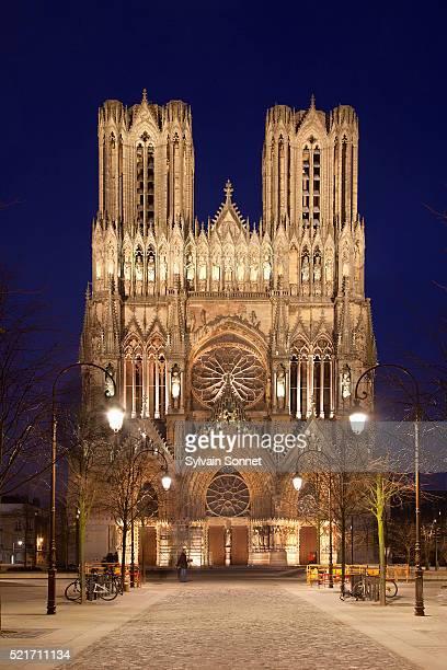 Notre-Dame de Reims at night