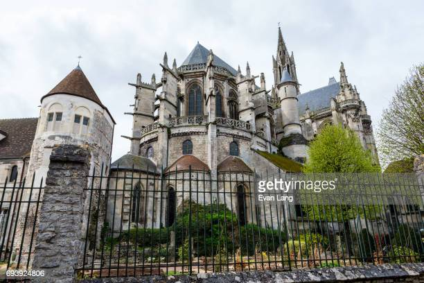 notre-dame de senlis cathedral - oise stock pictures, royalty-free photos & images