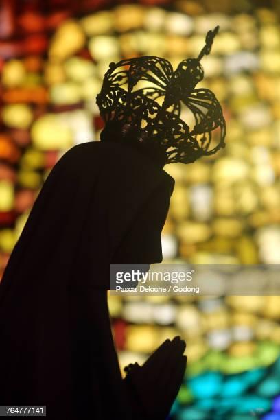 notre-dame des alpes church. our lady of fatima. france. - notre dame de fatima photos et images de collection