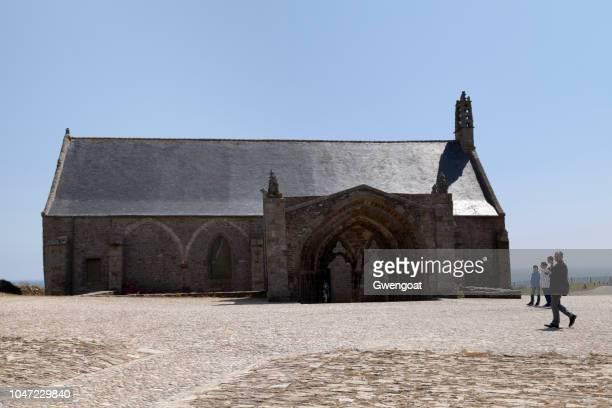 notre-dame-de-grâce chapel in plougonvelin - gwengoat imagens e fotografias de stock