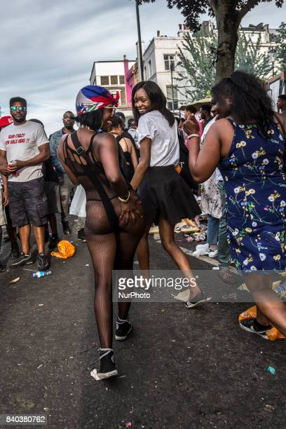Notting Hill Carnival main parade attracted thousands to the streets of Lodnon UK on August 28 2017 Europes biggest street festival is full of...