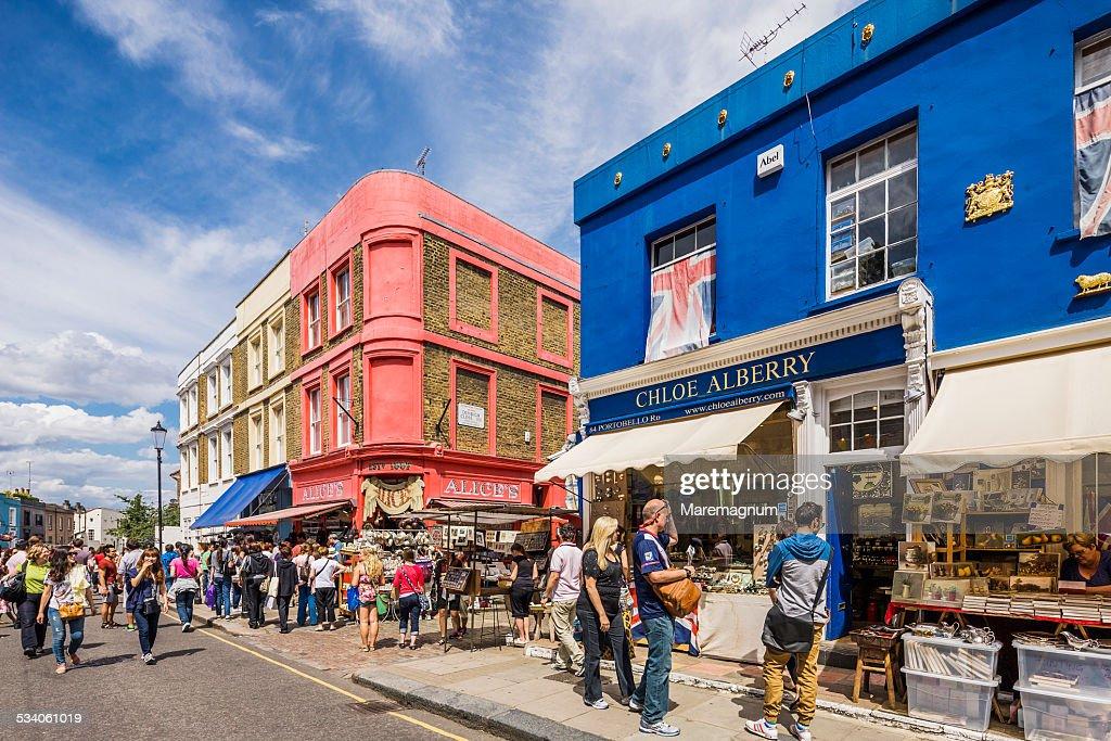 Notting Hill Portobello Market Stock Photo | Getty Images