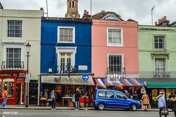 ノッティング・ヒルの住宅街でロンドン - ノッティングヒル ストックフォトと画像