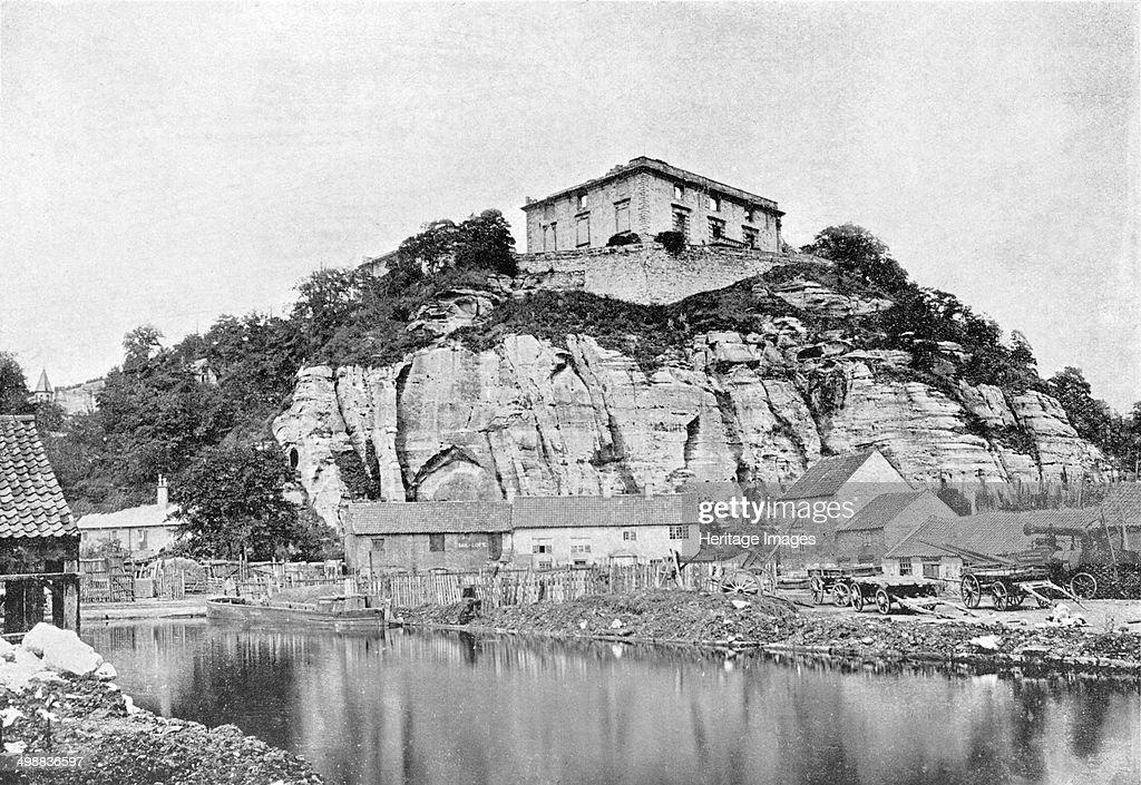 Nottingham Castle before restoration, Nottinghamshire, c1865. : News Photo