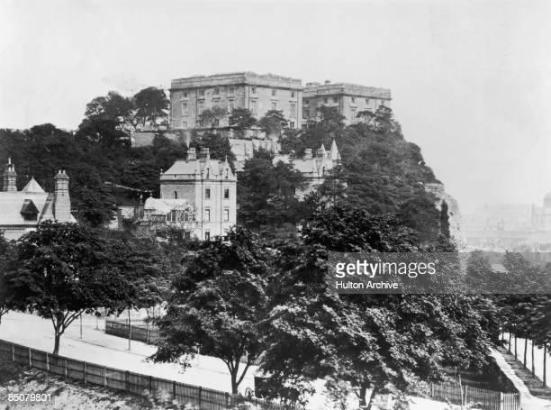Nottingham Castle in Nottingham, circa 1900.