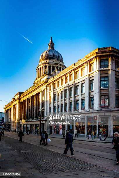 2019 nottingham christmas market - nottingham stock pictures, royalty-free photos & images