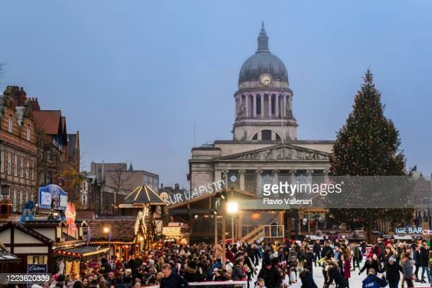 ノッティンガム・クリスマス・マーケット(イギリス、イギリス) - ノッティンガム ストックフォトと画像