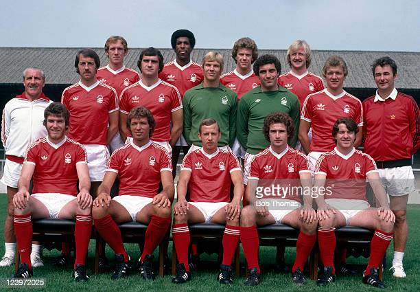Nottingham Forest 1st team squad 30th July 1978 Back row Ian Bowyer Viv Anderson Tony Woodcock Kenny Burns Middle row Jimmy Gordon Frank Clark Larry...