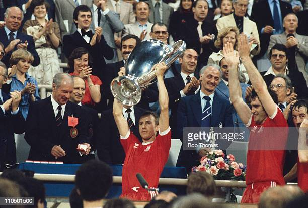 Nottingham Forest captain John McGovern with the trophy after his team beat Malmo FF 10 to win the European Cup at the Olympiastadion Munich 30th May...