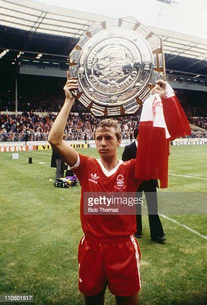 Nottingham Forest captain John McGovern with the trophy after his team beat Ipswich Town 50 to win the FA Community Shield at Wembley Stadium London...