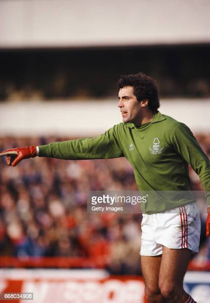 Nottingham Forest goalkeeper Peter Shilton in action during a match from the 1979/80 Season at City Ground Nottingham