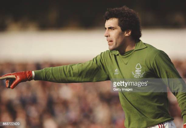 Nottingham Forest goalkeeper Peter Shilton in action during a match from the 1979/80 Season at City Ground, Nottingham.