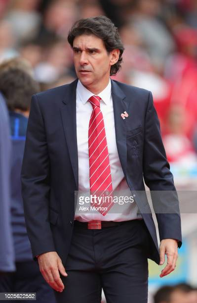 Nottingham Forest manager Aitor Karanka during the Sky Bet Championship match between Nottingham Forest and Birmingham City at City Ground on August...