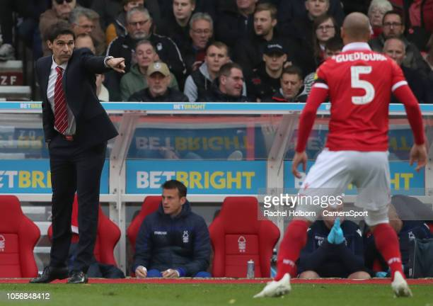 Nottingham Forest Manager Aitor Karanka during the Sky Bet Championship match between Nottingham Forest and Sheffield United at City Ground on...