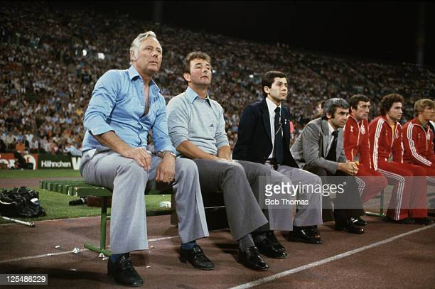 Nottingham Forest manager Brian Clough and his assistant Peter Taylor during the European Cup final at the Olympiastadion Munich 30th May 1979 Forest...