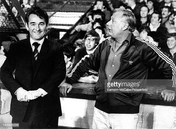 Nottingham Forest manager Brian Clough and his assistant Peter Taylor at the City Ground, Nottingham, 1982.