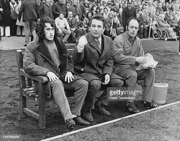 Nottingham Forest manager Brian Clough on the bench at a match, 27th November 1973.