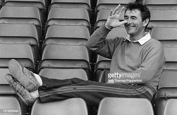 Nottingham Forest manager Brian Clough thumbs his nose August 1979