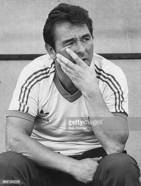 Nottingham Forest manager Brian Clough waering a 1979 European Cup shirt