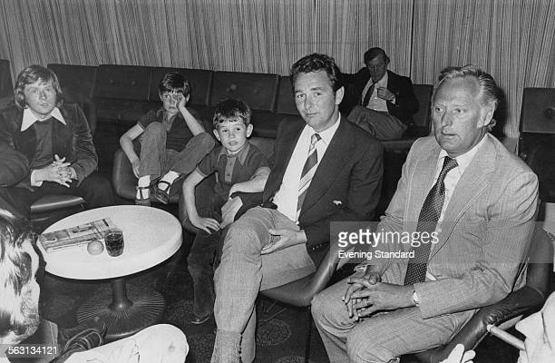 Nottingham Forest manager Brian Clough with his sons, Nigel and Simon, and assistant manager Peter Taylor , 14th May 1974.