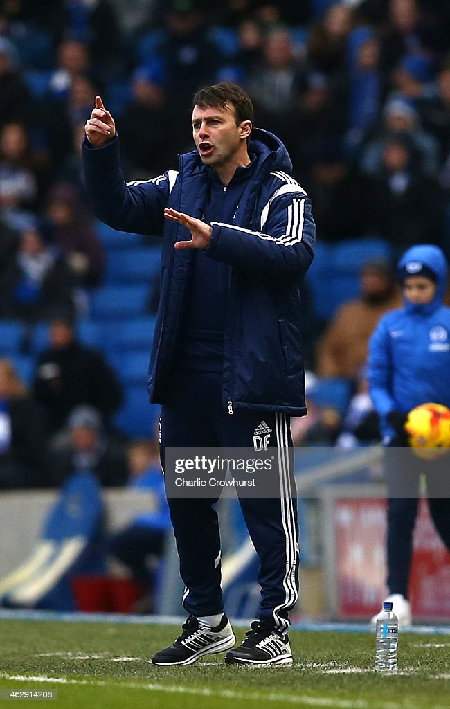 Nottingham Forest manager Dougie Freedman during the Sky Bet Championship match between Brighton & Hove Albion and Nottingham Forest at The Amex Stadium on February 07, 2015 in Brighton, England.
